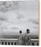 Two Monks Wood Print
