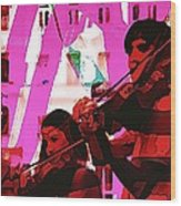 Two Musicians Wood Print