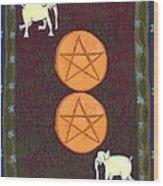 Two Of Pentacles Wood Print