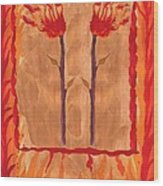 Two Of Wands Wood Print