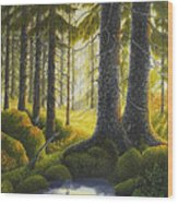 Two Old Spruce Wood Print