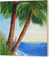 Two Palms Wood Print