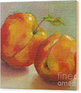 Two Peaches Wood Print