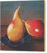 Two Pears Wood Print by Anastasiya Malakhova