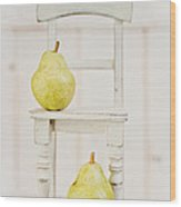 Two Pears And A Chair Still Life Wood Print