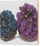 Two Pineapples Wood Print