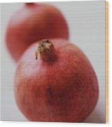 Two Pomegranates Wood Print