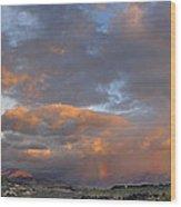 Two Rainbows In Sierra Nevada Wood Print