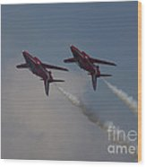 Two Red Arrows Wood Print