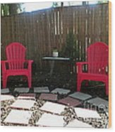 Two Red Chairs Wood Print