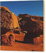 Two Rocks At Cliff Dwellers Wood Print