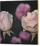 Two Roses And A Fly Wood Print by Tomasz Dziubinski