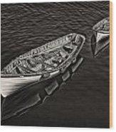 Two Row Boats Wood Print