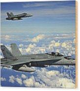 Two Royal Australian Air Force Fa-18 Wood Print