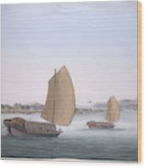 Two Sailing Boats Wood Print