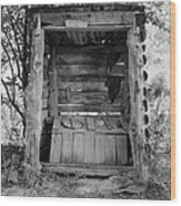 Two-seater Outhouse Wood Print