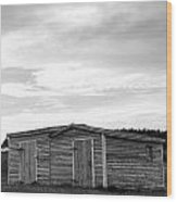 Two Sheds Wood Print