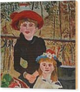 Two Sisters On The Terrace Wood Print