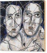 Two Souls - Study No. 1 Wood Print