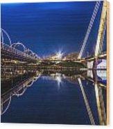 Two Southport Bridges Wood Print