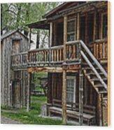 Two Story Outhouse - Nevada City Montana Wood Print