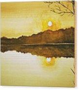 Two Suns Wood Print