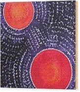 Two Suns Original Painting Wood Print