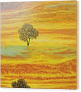 Two Sunsets In Limassol Wood Print