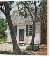 Two Tree Cottage Wood Print