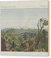 Two Views Of The Himalayas Wood Print