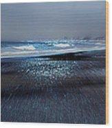 Two Waves Wood Print
