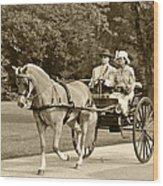 Two Wheel Cart Wood Print by Wayne Sheeler