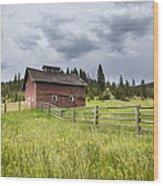Two Window Barn Wood Print