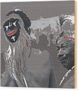 Two Yaqui Pascola Dancers Gallery In The Sun Tucson Arizona 1969-2013 Wood Print