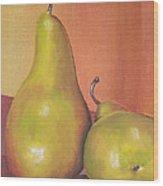 Two Yellow Pears Blenda Studio Wood Print
