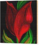 Twolips Wood Print