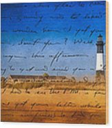 Tybee Island Lighthouse - A Sentimental Journey Wood Print by Mark E Tisdale