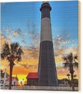 Tybee Island Sunrise Wood Print