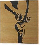 Tying Pointe In Black Wood Print