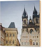 Tyn Church In Prague Wood Print