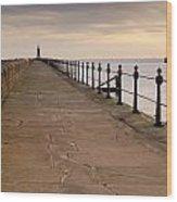 Tynemouth North Pier Wood Print
