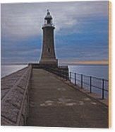 Tynemouth Pier Lighthouse Wood Print