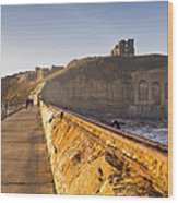 Tynemouth Priory And Castle From North Pier Wood Print