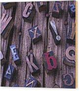 Typesetting Blocks Wood Print