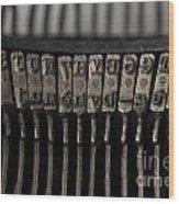 Typewriter Wood Print by Bernard Jaubert