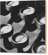 Typewriter Keys, 1921 Wood Print