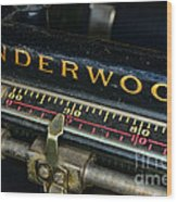 Typewriter Paper Guide Wood Print