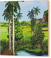 Typical Country Cuban Landscape Wood Print