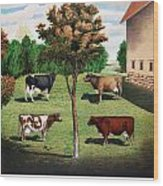 Typical Cows  Wood Print