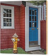 Typical Rockport Massachusetts Wood Print